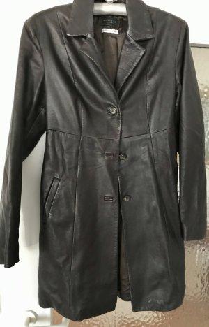 Abrigo de cuero color bronce Cuero
