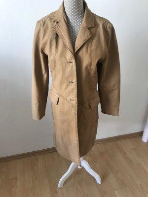 Different Manteau en cuir marron clair cuir