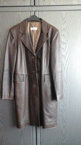 Gaddis Leather Coat brown leather
