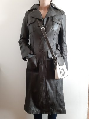 Blaumax Leather Coat taupe