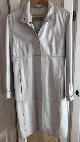 JCC Leather Coat white