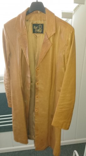 Leather Coat light brown leather