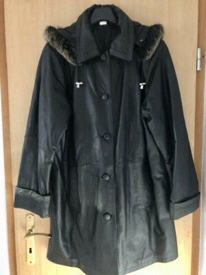 Abrigo de invierno negro Cuero