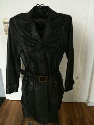 Street One Leather Coat dark brown