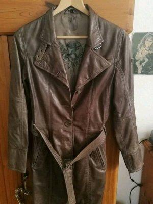 Gipsy Manteau en cuir marron clair cuir