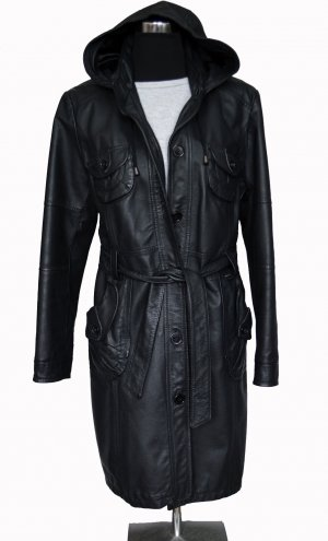 Tchibo / TCM Leather Coat black leather