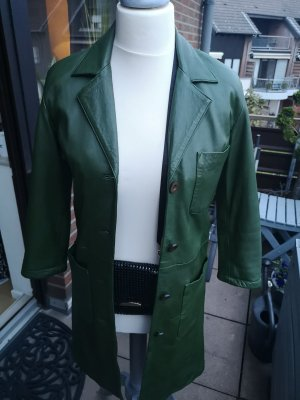 Vero Moda Leather Coat forest green