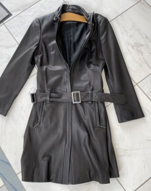 Blacky Dress Skórzany płaszcz ciemnobrązowy Skóra