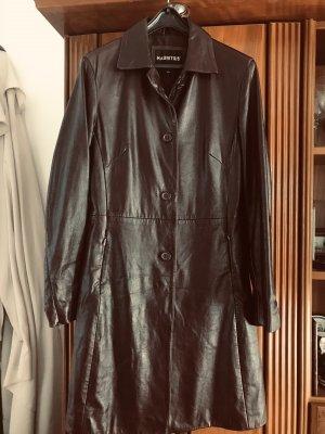 Mauritius Leather Coat bordeaux