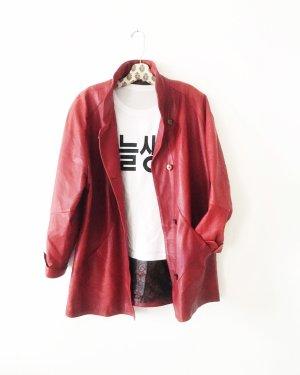 ledermantel • jacke • rot • vintage • boho • edgy • oversized