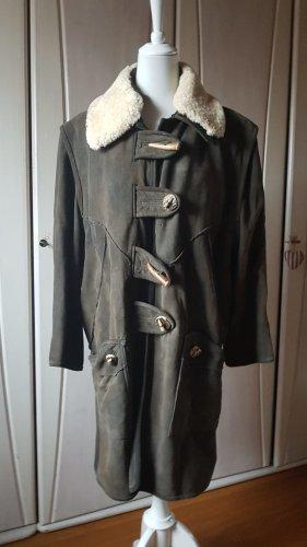 Stefanie/Salzburg Manteau en cuir kaki cuir