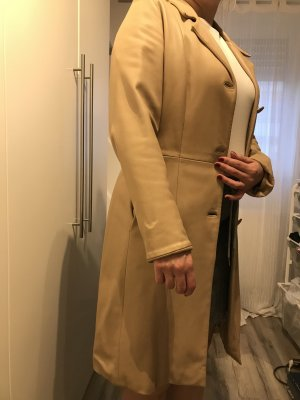 8 Leather Coat cream leather