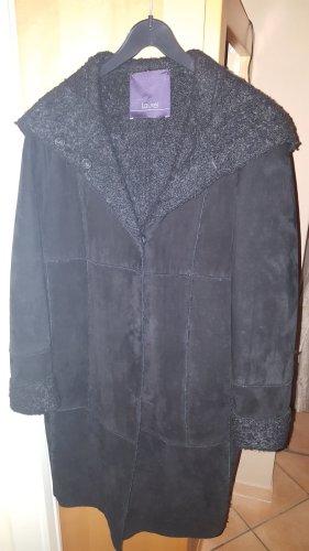 Laurèl Abrigo de cuero negro