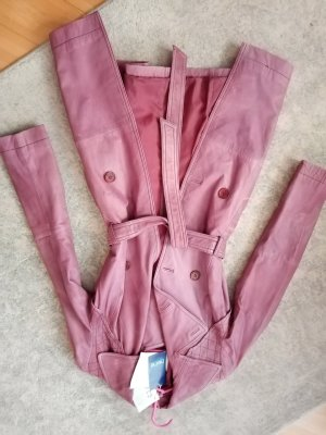 Heine Leather Coat purple-brown violet leather
