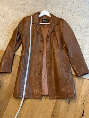 Linea pelle Leather Coat brown