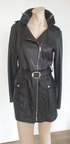 MCM Leather Coat black
