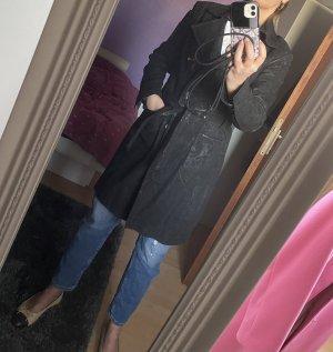 Milestone Skórzany płaszcz czarny