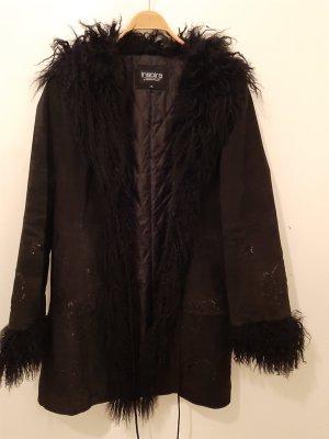 Rino & Pelle Manteau en cuir noir