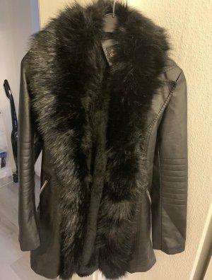 Danity Faux Leather Jacket black