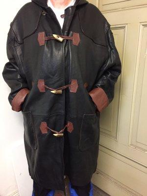 unbekannte Cappotto con cappuccio nero-marrone