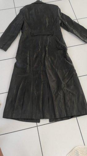 Ledermantel schwarz bodenlang Gr 36 Schnäppchen kleine Damen  NP 500€