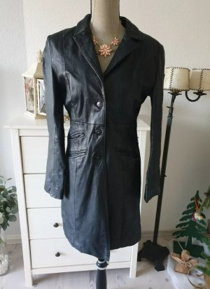 Manteau en cuir noir cuir