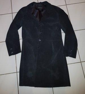 Barisal Manteau en cuir noir