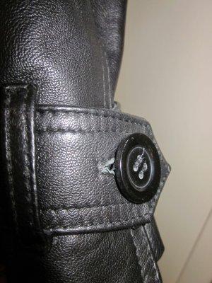 Ledermantel schwarz, Größe S