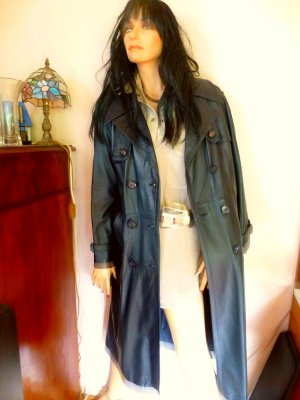 Ledermantel Trenchcoat Handmade M