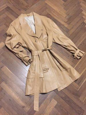 Vintage Manteau en cuir chameau cuir