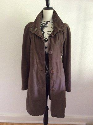 Armani Jeans Leather Coat taupe