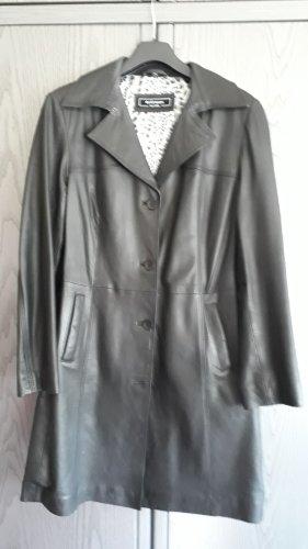 David Moore Leather Coat black leather
