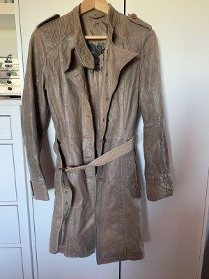 Gipsy Manteau en cuir marron clair