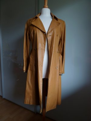 Hallhuber trend Leather Coat cognac-coloured-gold-colored leather