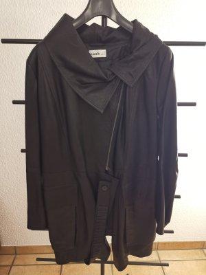 Nook... Manteau en cuir noir cuir