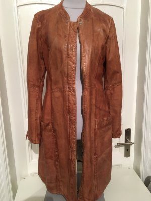 Oakwood Leather Coat cognac-coloured