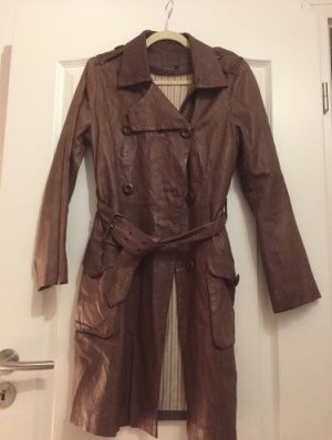 Pepe Jeans London Leather Coat brown