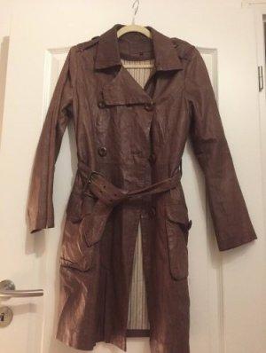 Pepe Jeans London Abrigo de cuero marrón