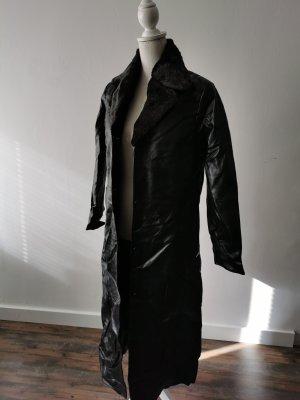 TCM Skórzany płaszcz czarny