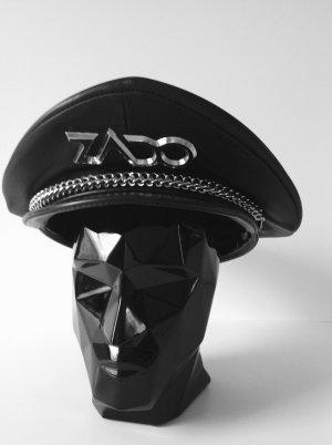 Visor Cap black leather