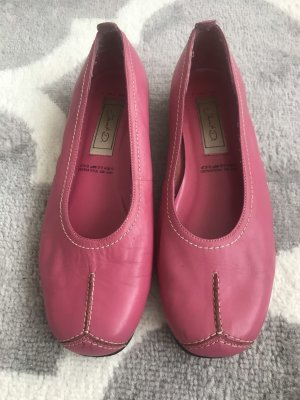 Janet D Mary Jane Ballerinas pink-neon pink leather