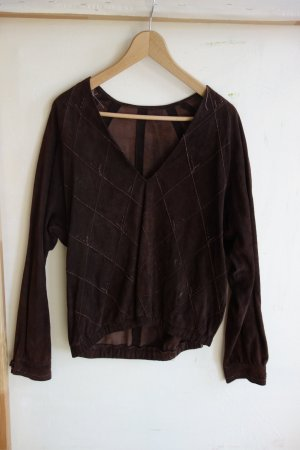 Leather Blouse brown leather