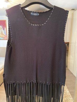 Zara Fine Knitted Cardigan black