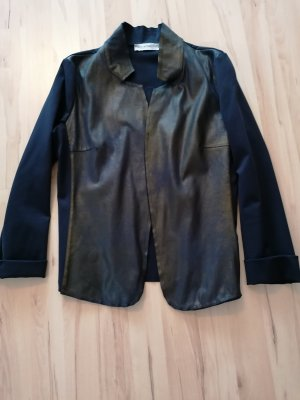 Rina Scimento Leather Blazer black-dark blue