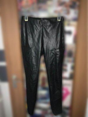 Lederoptik Hose mit Seitentaschen