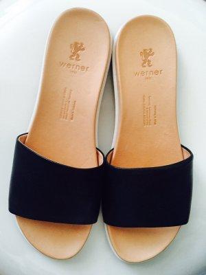 Werner Outdoor sandalen donkerblauw Leer