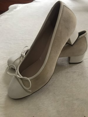 Mary Jane Ballerinas natural white leather