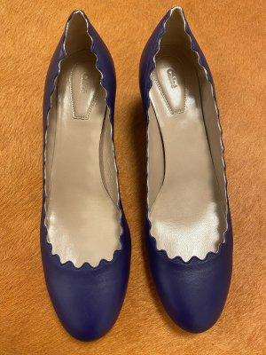 Chloé Chaussure à talons carrés bleu foncé