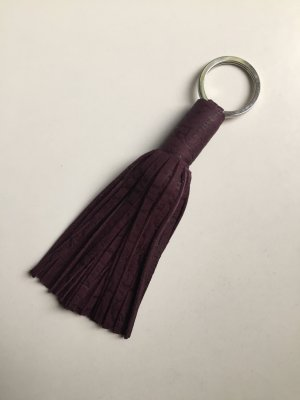 Key Chain blackberry-red leather