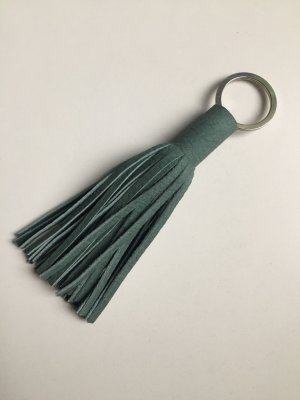 Key Chain sage green leather